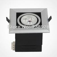 Wholesale Single head led square grille lamp w silver full set lighting w led bean gall light w LED bean gall blader