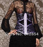 Wholesale Women Everyday Lace Satin Waist Cincher XL S XL Fashion Slim Body Shaperwear Vintage Gothic Design Corset Corsette Tops Clothes