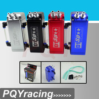 Wholesale Universal mm D1 Engine Oil Catch Tank Can Reservoir quot x3 quot x2 quot Square JDM BLACK SILVER RED BLUE
