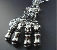 Wholesale 2014 new Korean version of the original handmade cotton rope gripper chain skeleton ghost men sweater chain necklace pendant women