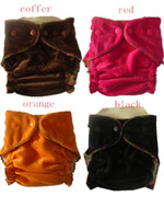 Wholesale 2014 High quality Organic Bamboo Velour fitted baby Cloth diapers with insert Nappy