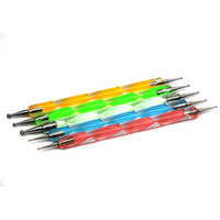 Wholesale 10sets x ways Steel Dotting Marbleizing Pen Nail Art Decoration Manicure Tool Dropshipping