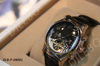 Wholesale Luxury Men s Mechanical Watches Automatic skeleton watch Leather Watchband Excellent Quality Mens Wristwatch