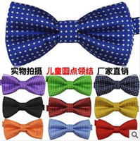 Wholesale 20pcs Children S ties boy s girl s bow tie fashion baby bow tie polyester yarn