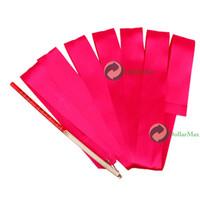 Wholesale High Quality Gym Dance Ribbon Rhythmic Art Gymnastic Streamer Baton Twirling Rod M