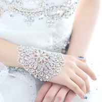 Wholesale Wedding Bridal party prom Jewelry Crystal Rhinestone bracelet with ring wristband Bracelet Bridal Jewellery Sets