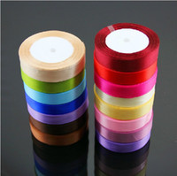 Wholesale 2cm yards Polyester Packing Silk satin ribbons belt Gift Wedding yards slot