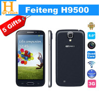 "5.0 Android 1G Original Feiteng H9500 5.0"" MTK6589 1.2GHz Quad Core phone IPS HD Screen Android 4.2 Smart phone with 3G GSM Dual SIM + 5Gifts"