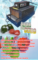Wholesale brand new hot sale V V thermal Shrink tunnels and PE film packaging machine for bottle caps plastic label can container