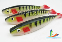 Soft Baits Big Game Saltwater The boat fishing bait Plastic bait big soft lures multicolor fishing lure 100%PVC (25cm 95g 5pcs lot) china post air
