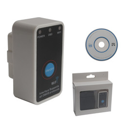 Wholesale Super Mini ELM327 WiFi with Switch Work with iPhone OBD II OBD Can Code Reader Tool free dhl