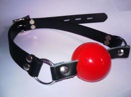 Black   Red Soft silicone ball mouth gag Ball Gag Bondage gag ball sex toy adult toys