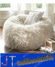 Wholesale NEW Long fur soft beanbag extra elegant lounge bean bag MYY72