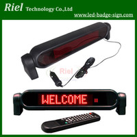 Wholesale Car V LED Message Sign Programmable Scrolling Display Board Red Dots