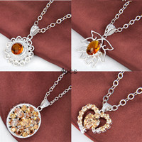 multicolor fashion jewelry 925 silver natural zircon heart p...
