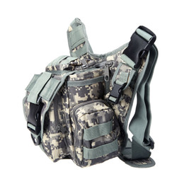 Wholesale Molle Tactical Shoulder Strap Bag Pouch Travel Backpack Camera Military Bag Army Green Hot New Outdoor Sports Bags H9767
