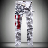 Wholesale American Flag Men Jeans Cotton men s Clothing regular large plus size original design