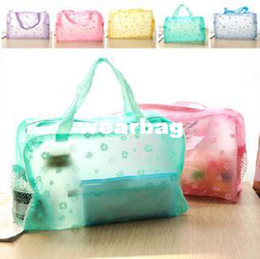 free shipping comestic bag makeup make up beauty bag clear candy favor handbag container travelling bag