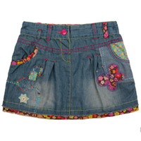 Wholesale M2699 Nova new design children skrits m y baby girl flower tutu mini denim skirts patchwork sequin comfortable fabic jumper merchandise