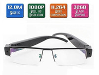 Cheap Newest 12MP Full HD 1080P espion Glasses Hidden Spy Camera Eyewear Cam DVR Video Recorder needed by News Reporter UP TO 32GB