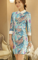 2014 New Women's Clothings Fashion Dresses Exquisite blue pr...