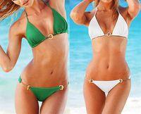 alloy swimwear - The new swimwear bikini bikini alloy buckle suit