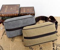 Wholesale Fashion Details about Classical Men s Canvas Brown Pockets shoulder bag leisure package