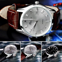 Wholesale Details about Classic Men s Casual Quartz electronic Stainless Steel Leather Wrist Watch