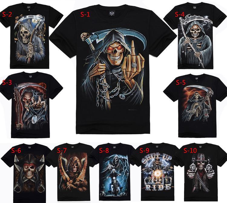 55 Design 100% Cotton Men's T-shirts 3D Color Print T-shirt,Short ...
