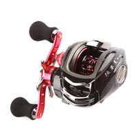 Wholesale 12BB Right Hand Bait Casting Fishing Reel Ball Bearings One way Clutch High Speed Red For Outdoor Fish Sports H9701 R