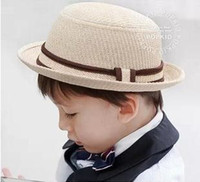 Boy Summer Visor Fashion Straw Hat For Boy 2014 Summer 3colors Mix Cheap 5pcs Lot Free Shipping 0310C11
