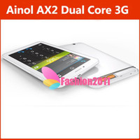 Wholesale Newest G Monster Android Phone Dual Core Ainol Novo5 NUMY3G AX2 Tablet M G Dual Camera IPS Screen GPS Bluetooth
