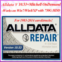 Wholesale in G HDD mitchell on demand alldata auto repair software Works on win7 and win8 with best technical support DHL freeshipping