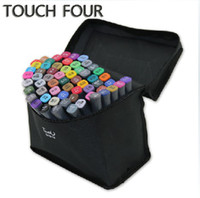 Wholesale 168 Colors Touch three Twin Art Markers Pen Fine Dual Heads Marking Pen Marker Paint Pens with Free Bag