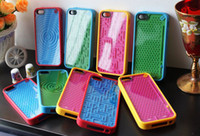 al por mayor iphone caso laberinto-Caso de parachoques PureGear Diversión Juego del laberinto de silicona para iPhone 5 5S y Samsung i9500 S4
