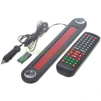 Wholesale Red LED Scrolling Message Display Board with Remote Control for Car DC V