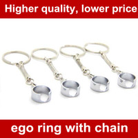 Ego Lanyard Ring avec crochets à moustache et chaîne courte pour ego ego-t egow ego-c ego-w F1 ecigarette e cig