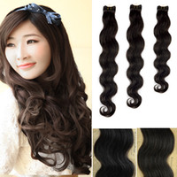 Wholesale 30g retail Virgin Brazilian Hair Extensions quot Body Wavy Weaving Weft