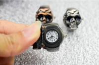Wholesale Fashion stylish Stainless Steel Finger watch Stretch Ring Watch so Cool skull watch