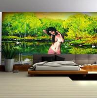 Wholesale European oil painting large murals quiet beauty parlor wallpaper