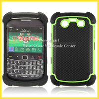 For Blackberry BB9700 bb 9700 - Hybrid Impact Hard Cases For Blackberry BB Heavy Duty Combo Armor in Silicone Gel Case Cover Colors DHL