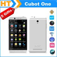 Cubot Uno Smartphone Android 4.2 MTK6589 Quad Core da 4.7 pollici 1280 * 720 IPS dello schermo del telefono 1G di RAM 8G ROM Dual Sim 3G 13MP fotocamera Nuovo