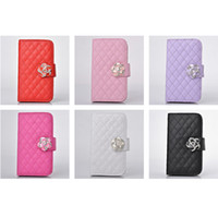 Wholesale Womens PU Leather Flower Wallet Purse Cellphone Cases Protector with Card Holders For iphone S S