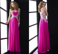 Wholesale HQ Popular Design Peach Color Formal Gowns Sweetheart Criss Cross Pleated Crystals Long Chiffon Gowns Custom Full Figure Evening Dresses