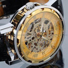 Wholesale Details about Lowest Price New Luxury Automatic Mechanical Skeleton Gold Men s Wrist Watch
