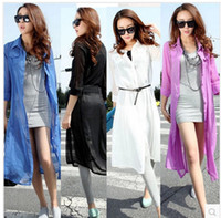 Wholesale Summer Chiffon Long Coat Women Chiffon Sunscreen clothing Air conditioned shirt S0313