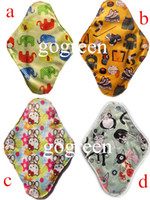 Wholesale Bamboo Mama s Cloth Printed Menstrual Pads Liners Washable