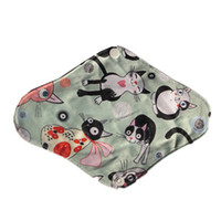 Wholesale colorful Bamboo Mama s Cloth Printed Menstrual Pads Liners Washable