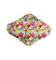 Wholesale Hot sale Bamboo Mama s Cloth Printed Menstrual Pads Liners Washable
