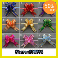 Wholesale Christmas Gift Packing Pull Bow Ribbons Decorative Holiday Pull Flower Ribbons x25cm